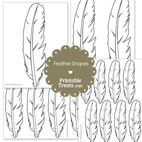 printable small turkey feathers printable feather shape templates printable treats com