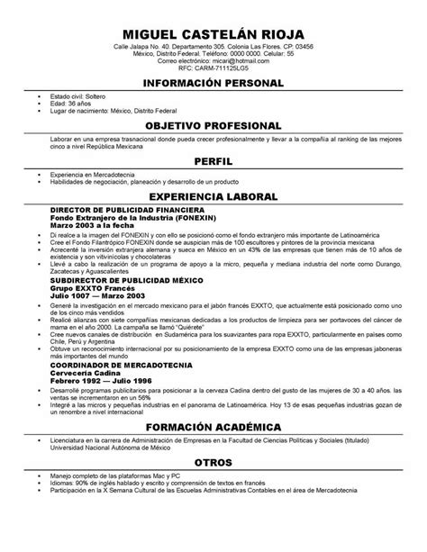 most popular resume format 2014 formato de um curriculum vitae simples