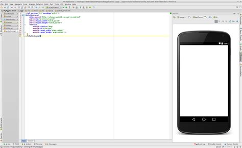 layout view in android studio android studio design view too small stack overflow