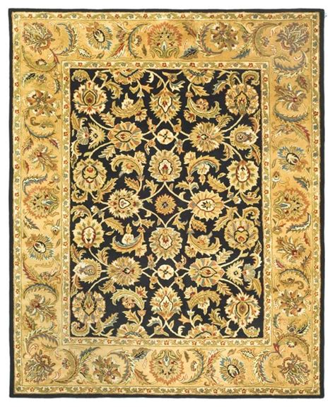 Black And Yellow Area Rugs by Classic Black Yellow Area Rug Cl758b 6 X 6