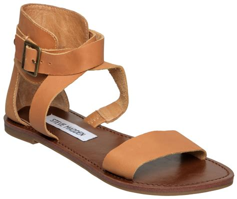 thick sandals steve madden bethany sm thick flat sandals in brown