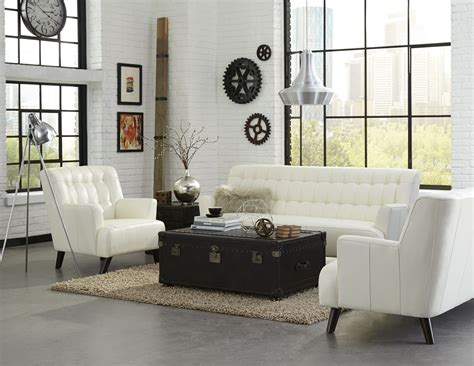 Living Room Sets Nyc New York White Leather Living Room Set From Lazzaro Coleman Furniture