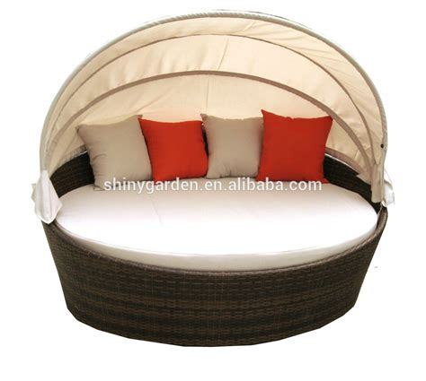 round shaped couches rattan round shaped outdoor lounge bed with canopy round