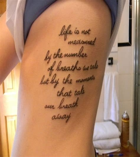womens rib tattoos quote tattoos for designs piercing