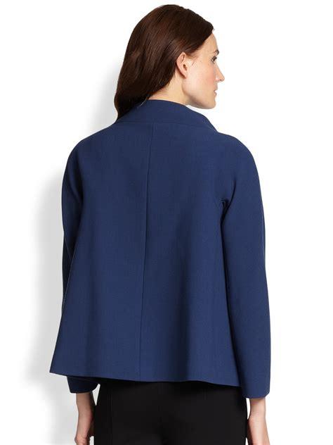 womens swing jacket lyst lafayette 148 new york parissa wool swing jacket in