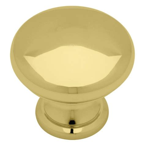 Polished Brass Cabinet Knobs by Liberty 1 1 4 In Polished Brass With White Ceramic Insert
