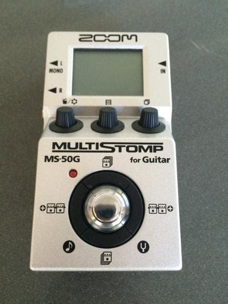 Zoom Multistomp zoom multistomp ms50g pedal reverb