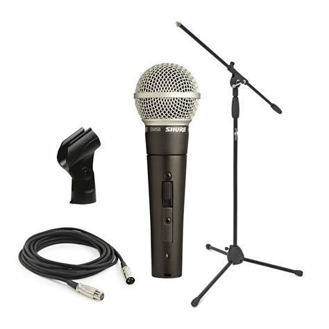 shure sm58s with boom mic stand and 6m cable at gear4music