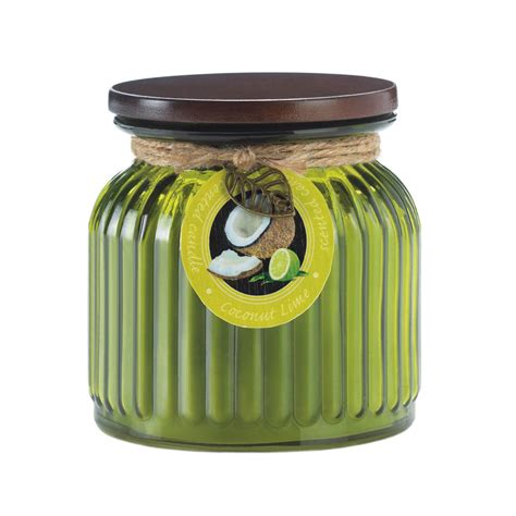 Candle Jars Wholesale Wholesale Coconut Lime Ribbed Jar Candle Buy Wholesale