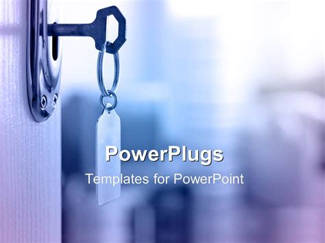 Powerpoint Template Key With Keyring To Unloack And Open Unlock Powerpoint Template