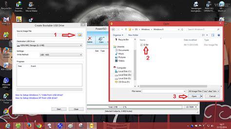 cara membuat bootable usb drive menggunakan power iso b3t h cara membuat bootable drive usb flashdisk informasi dan