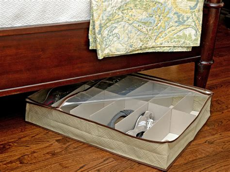 under the bed shoe rack 10 ways to maximize under the bed storage hgtv