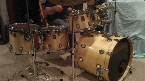premier genista birch drum kit audience perspective