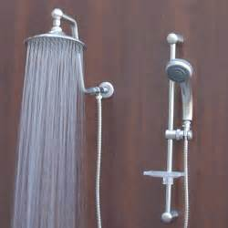 atlantis 7 shower system brushed nickel low
