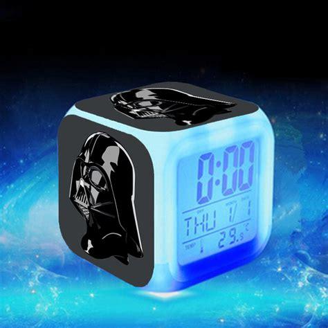 best color for alarm clock 2016 star war kids alarm clock led 7 color glowing change