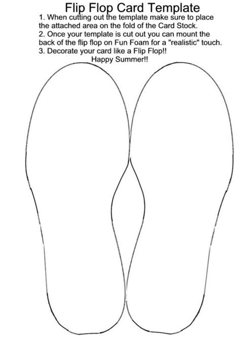 3 5x4 7 8 greeting card template home print flip flop card template by lorraine cards