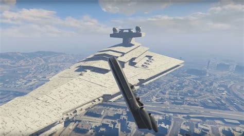 gta 5 starwars mod star wars imperial star destroyer featured in gta v pc mod