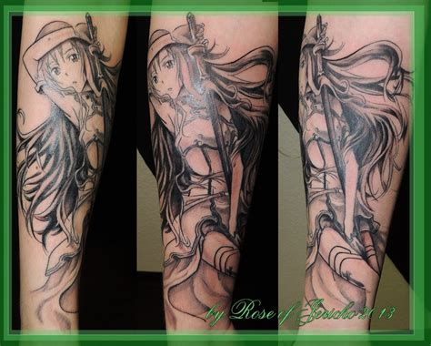 online tattoo on your picture azuna sword art online tat by akima hawa nedegie on deviantart
