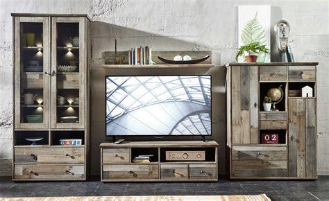 wohnzimmer vintage look wohnwand wohnzimmer set vitrine lowboard wandregal tv