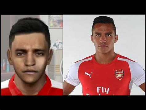 alexis sanchez pes stats alexis sanchez new hair stats pes 2015 ps2 by