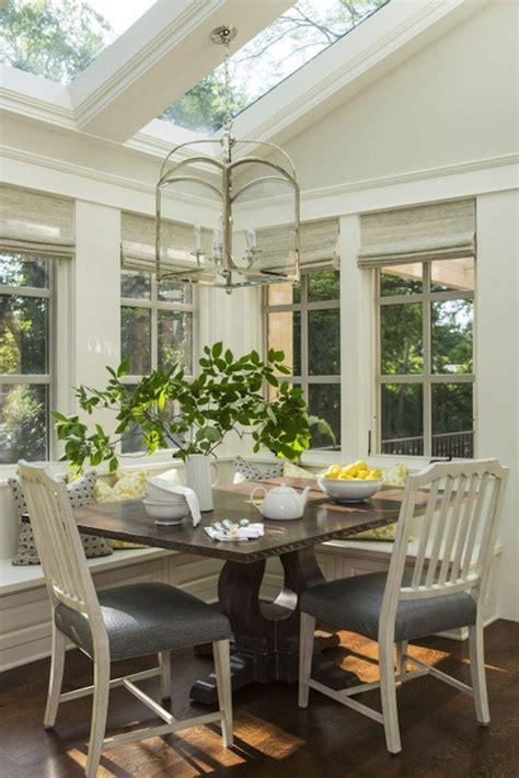 Sunroom Dining Room Ideas Breakfast Nook Ideas Transitional Dining Room Benjamin Revere Pewter Martha O Hara