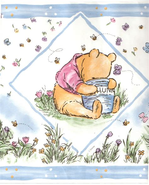 disney wallpaper pooh goodnight vintage blue disney classic winnie the pooh bear baby blue nursery kid