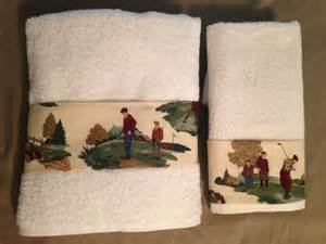 themed bath towels golf theme bath towel and towel set of 2