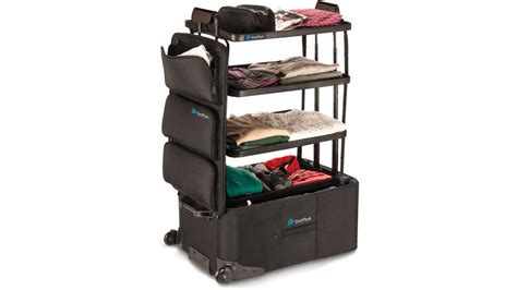 suitcase dresser wordlesstech suitcase transforms into a compact dresser