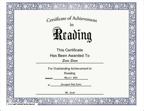 word certificate template 51 free download samples examples