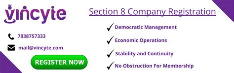 Section 8 Company by Section 8 Company Register In Delhi India Vincyte
