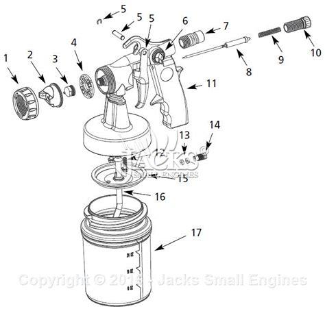 campbell hausfeld hv parts diagram  spray gun parts