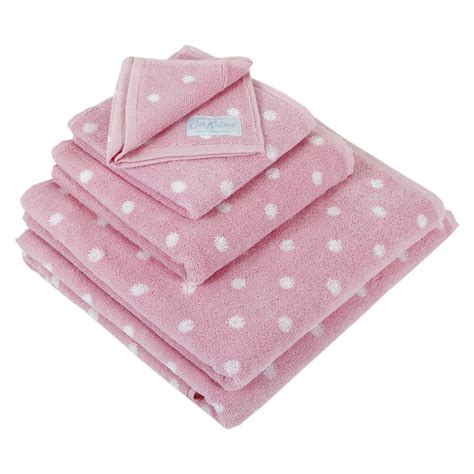 pink bathroom towels buy cath kidston pink spot jacquard towel bath towel amara