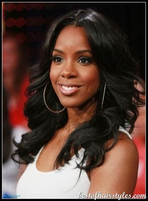 black hair weave part in the middle kelly rowland black celebrity hairstyles black