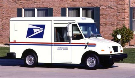 postal vehicles on the road