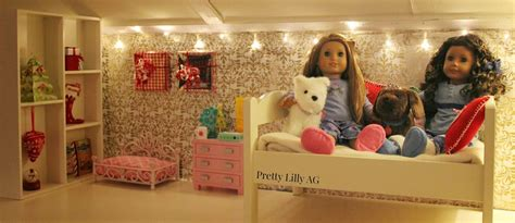 pretty lilly  american girl christmas doll bedroom