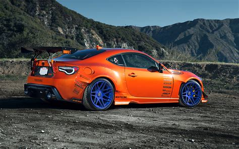 nissan frs custom toyota 86 scion fr s tuning widebody spoilers orange style