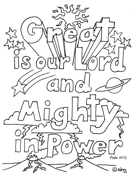 Coloring Pages For Kids By Mr Adron Great Is Our Lord God Is Coloring Page