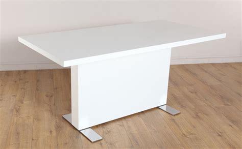 white gloss dining room table lisbon white high gloss dining room table ebay