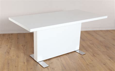 white high gloss dining table lisbon white high gloss dining room table ebay