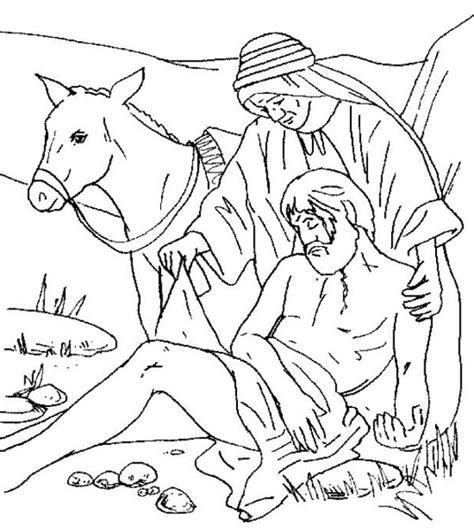 good samaritan coloring page coloring home traveller being helped by good samaritan coloring page