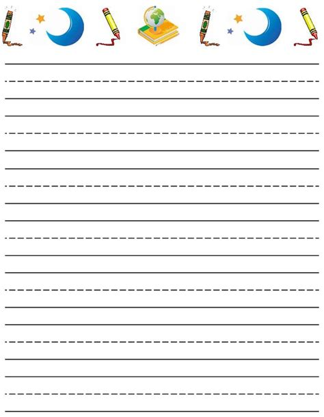 printable paper learning to write free printable stationery for kids free lined kids