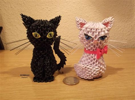 How To Make A 3d Origami Cat - cats by sombra33 on deviantart luvlee origami