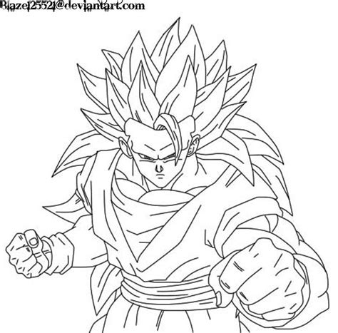free coloring pages of goku super saiyan 3 az coloring pages