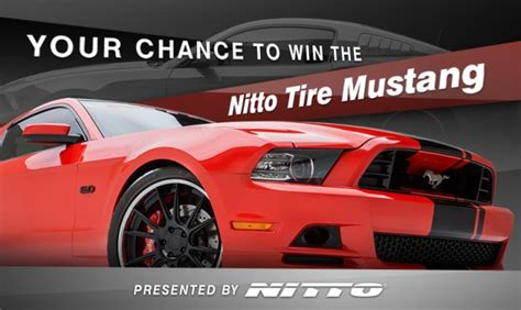 Enter The Sweepstakes - enter the nitto tire mustang sweepstakes the news wheel