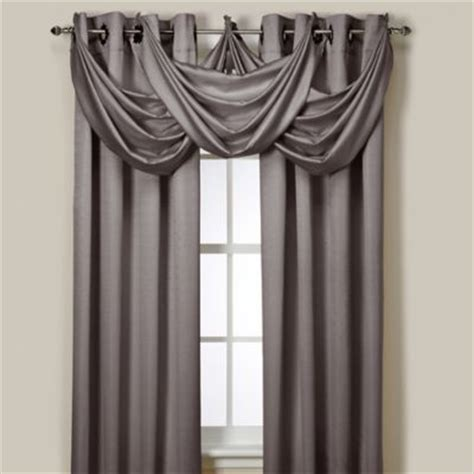 And Grey Valance Buy Lyna Window Valance In Grey From Bed Bath Beyond