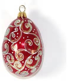 egg quot holiday quot hand blown glass christmas tree ornament