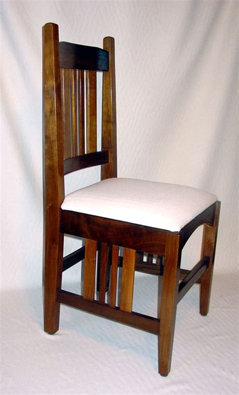 wooden dining chair plans mission style chair storage