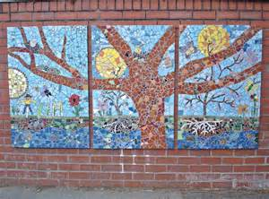 ideas mosaic wall: green day mosaic designed and produced by pupils staff and