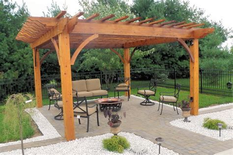 Elegant natural wood patio pergolas 340640 home design ideas