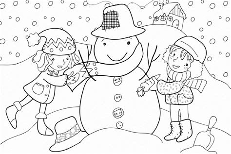 snow coloring pages preschool winter season coloring pages crafts and worksheets for